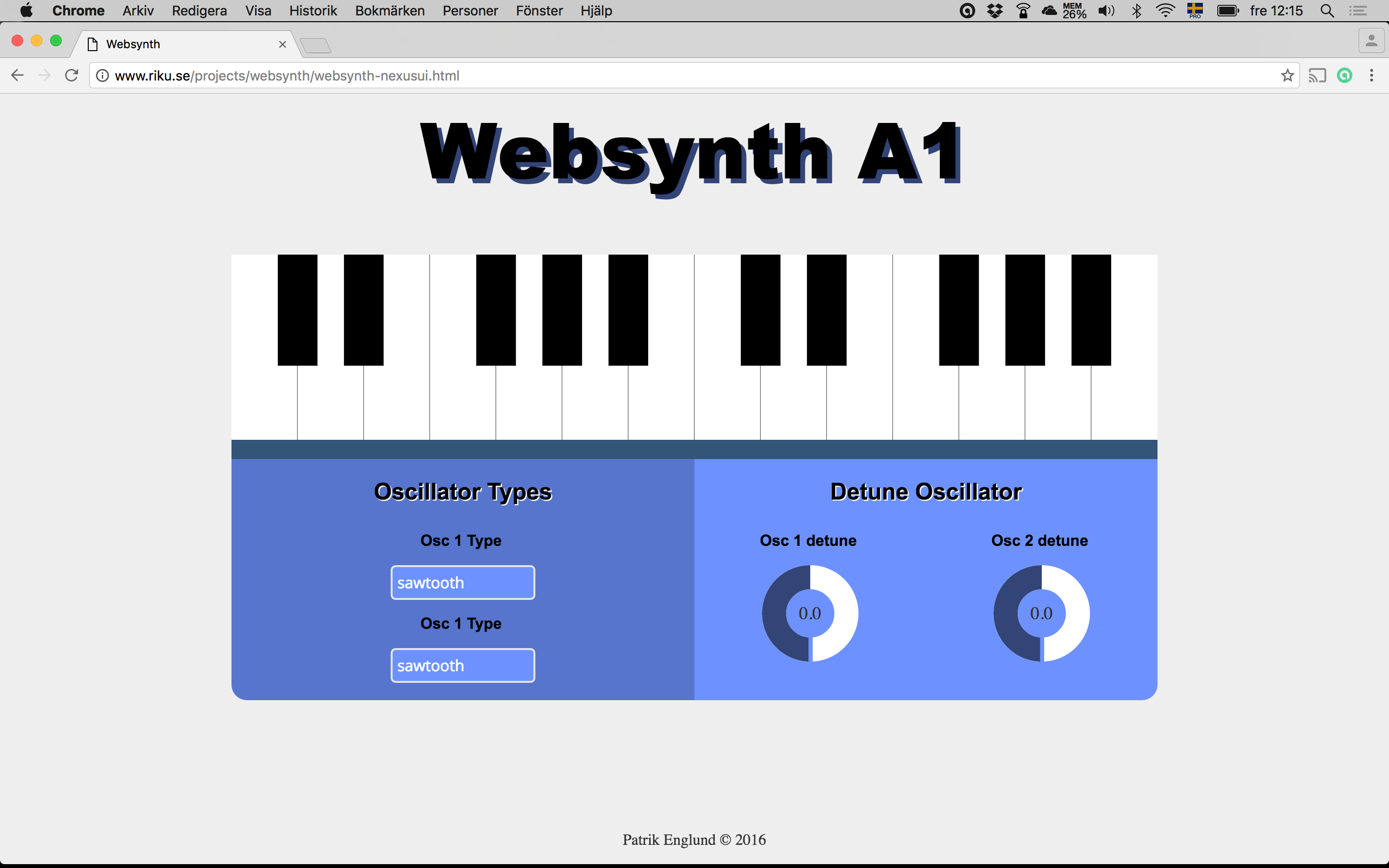 Websynth on desktop